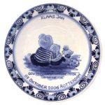 """Geboortebord nr. 20 Delfts blauw """"Beertjes"""""""