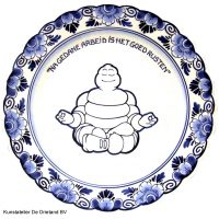 Wandbord nr. 26 Delfts blauw Michelin