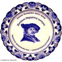 Wandbord nr. 26 Delfts blauw Rembrandt