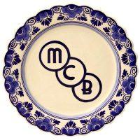 Wandbord nr. 26 Delfts blauw logo MCB