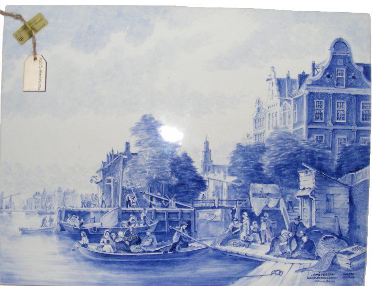 Tegel Delfts Blauw : Prachtige tegel porselein delfts blauw cm jouwveilingen